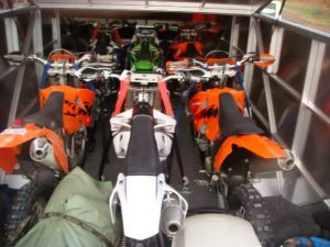 Transporting your dirt bike - enclosed trailer
