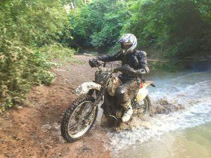 Dirt Bike water crossing
