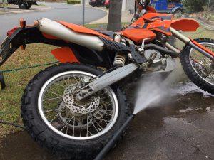 Dirt Bike washing underside