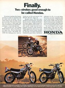 Honda MT125 and 250