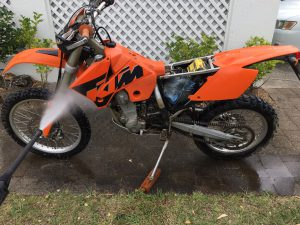 Washing a Dirt Bike
