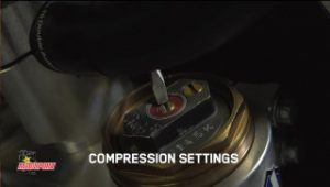 Front fork compression settings