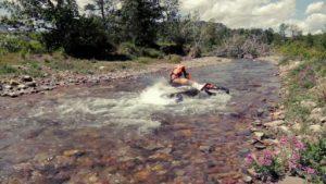 drowned dirt bike