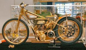 Ivan Mauger's gold bike