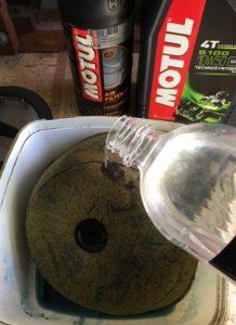 Cleaning a dirt bike air filter