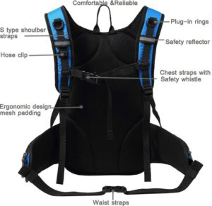 Mubasel Gear Insulated Hydration Pack back panel
