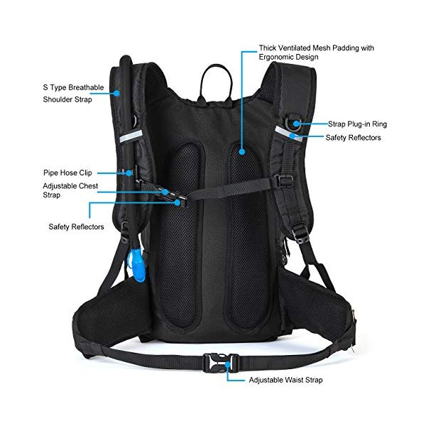 Rupumpack hydration pack back panel