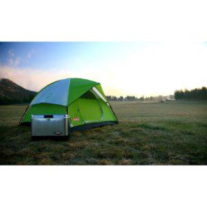 Coleman 2 person Sundome Tent set up