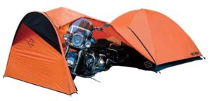 Harley Davidson Dome Tent with bike
