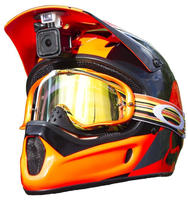 Action cam helmet under visor mount