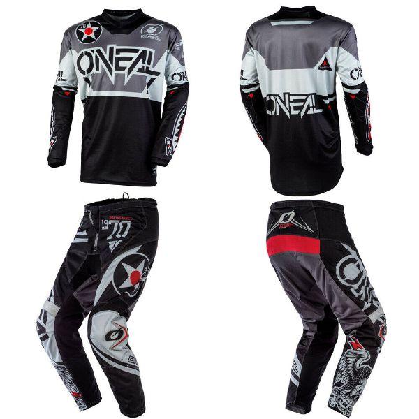 ONeal Element FR Unisex-Adult Jersey Blocker Black//Hi-Viz, Medium