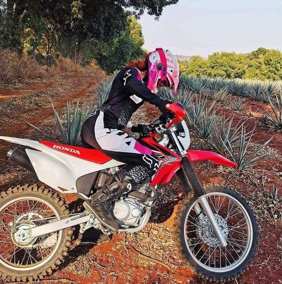 Female dual sport rider