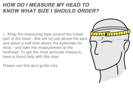 Dirt Bike helmet size measurement